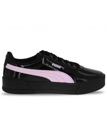 Zapatos zapatillas de mujer PUMA CILIA LUX en cuero negro