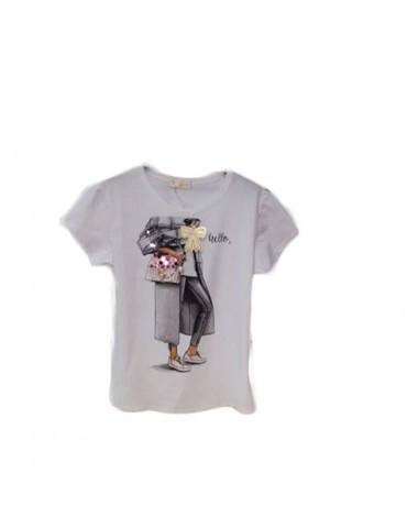 Crew neck T-shirt for women...